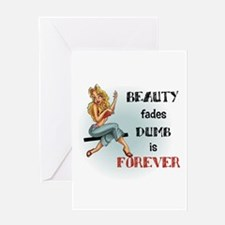 Beauty fades Greeting Card