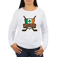 Ireland Irish Ice Hockey Shield Long Sleeve T-Shir