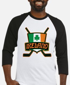 Ireland Irish Ice Hockey Shield Baseball Jersey