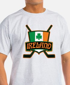 Ireland Irish Ice Hockey Shield T-Shirt