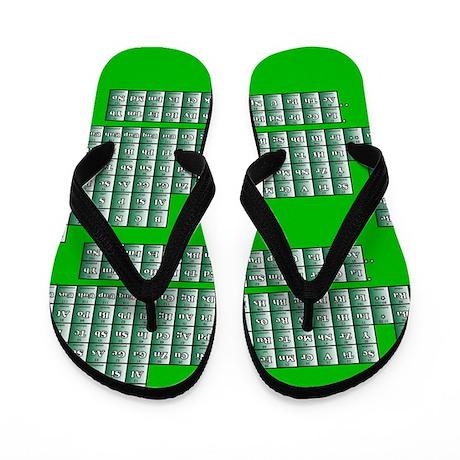 Deluxe Periodic Table (green) Flip Flops