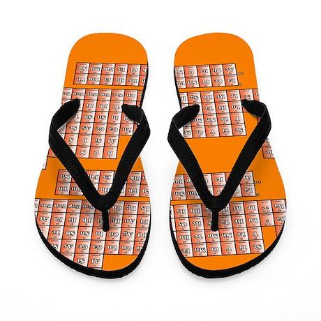 Deluxe Periodic Table (orange) Flip Flops