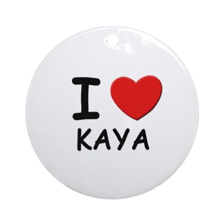 I love Kaya Ornament (Round)