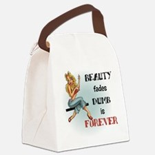 Beauty fades Canvas Lunch Bag