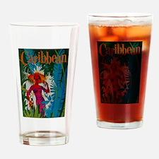 Vintage Caribbean Travel Drinking Glass