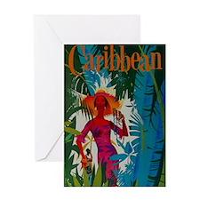 Vintage Caribbean Travel Greeting Card