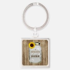 Home Sweet Home Rustic Mason Jar Keychains