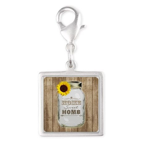 Home Sweet Home Rustic Mason Jar Charms
