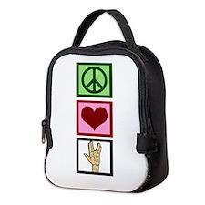 Peace Love Star Trek Neoprene Lunch Bag