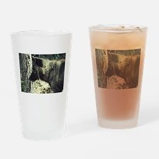 """Young Black Wolf"" Drinking Glass"