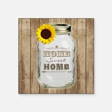 Home Sweet Home Rustic Mason Jar Sticker