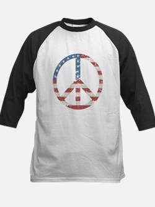 Vintage Peace USA Kids Baseball Jersey