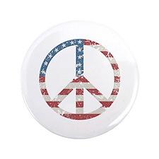 "Vintage Peace USA 3.5"" Button"