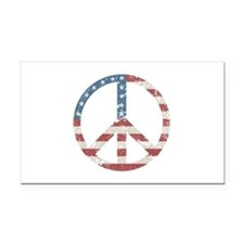 Vintage Peace USA Rectangle Car Magnet