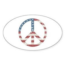 Vintage Peace USA Decal
