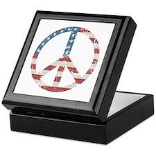 Vintage Peace USA Keepsake Box