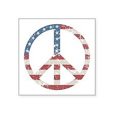"Vintage Peace USA Square Sticker 3"" x 3"""