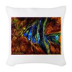 Angel Fish Woven Throw Pillow