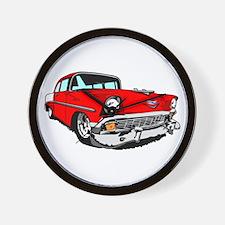 1956 Bel Air Red 2 Door Wall Clock