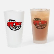 1956 Bel Air Red 2 Door Drinking Glass