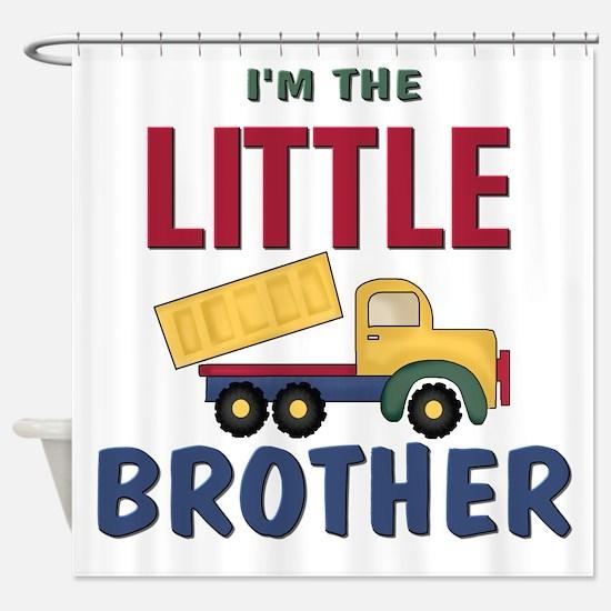 Litte Brother Dump Truck Shower Curtain