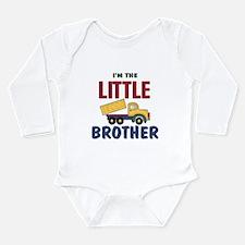 Litte Brother Dump Truck Onesie Romper Suit