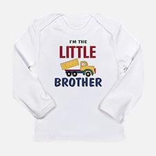 Litte Brother Dump Truck Long Sleeve Infant T-Shir