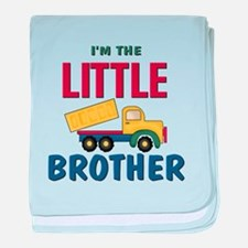 Litte Brother Dump Truck baby blanket