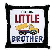 Litte Brother Dump Truck Throw Pillow