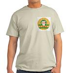 Libra Men's Christmas T-Shirt in Ash Grey