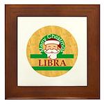 Libra Framed Tile, Merry Christmas Libra Picture