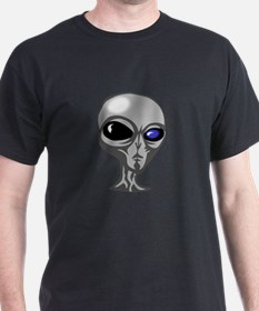 Grey Alien Face T-Shirt