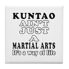 Kuntao Martial Arts Designs Tile Coaster