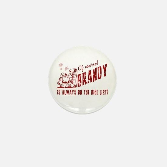 Nice List Brandy Christmas Mini Button