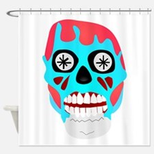 Scary Monster Face Shower Curtain