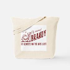 Nice List Brandy Christmas Tote Bag