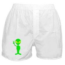 Green Peace Alien Boxer Shorts