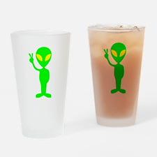 Green Peace Alien Drinking Glass