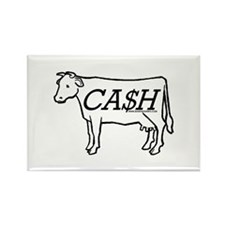 Cash Cow Rectangle Magnet
