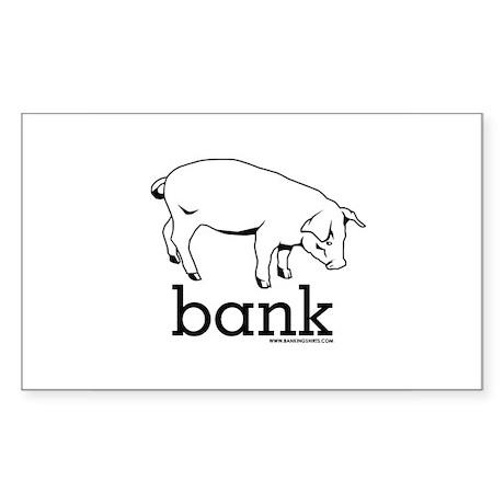 Piggy Bank Rectangle Sticker