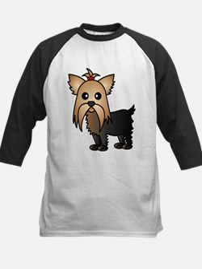 Cute Yorkshire Terrier Dog Baseball Jersey