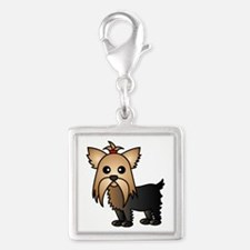Cute Yorkshire Terrier Dog Charms