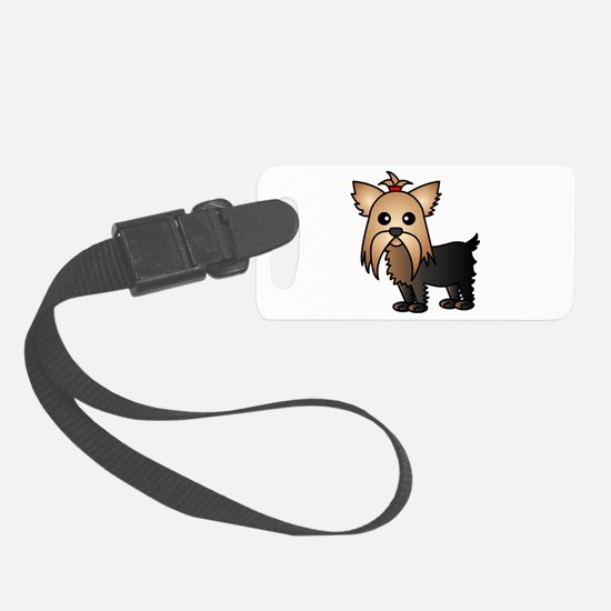 Cute Yorkshire Terrier Dog Luggage Tag