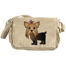Cute Yorkshire Terrier Dog Messenger Bag