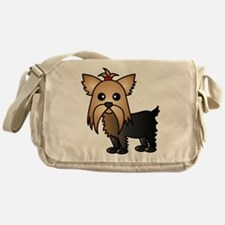 Cute Yorkshire Terrier Dog Messenger Bag
