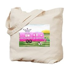 camper travel trailer camping queen Tote Bag