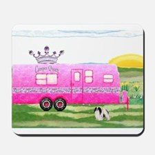 camper travel trailer camping queen Mousepad