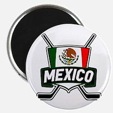 Mexico Ice Hockey Shield Magnet