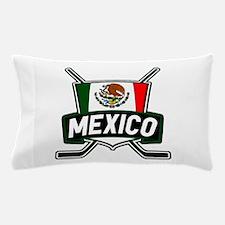 Mexico Ice Hockey Shield Pillow Case