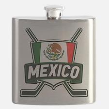 Mexico Ice Hockey Shield Flask